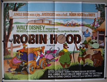 Robin Hood (1973) Walt Disney Film Poster - UK Quad